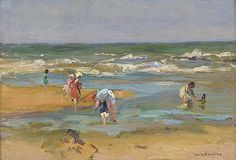Soonius, L. Painted Couch, Sand And Water, Impressionist Paintings, Coastal Art, Beach Art, Four Seasons, Seaside, Holland, Fine Art