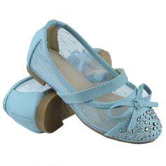 Kids Ballet Flats Studded Toe Cap Mesh Lace Casual Slip On Shoes Blue Casual Slip On Shoes, Trendy Shoes, Ballet Kids, Girls Flats, Lace Bows, Blue Shoes, Ballet Flats, Shoes Sandals, Cap