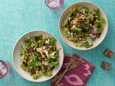 Escarole Salad with Bacon, Caramelized Onions and Blue Cheese Vinaigrette Recipe : Food Network Kitchen : Food Network - FoodNetwork.com