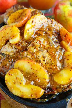 Maple Dijon Apple Cider Grilled Pork Chops Recipe : Grilled pork chops in a tasty maple dijon apple cider sauce. Pork Chops Bone In, Apple Pork Chops, Cooking Recipes, Healthy Recipes, Fall Recipes, Ninja Recipes, Grilled Pork Chops, Pork Chop Recipes, Meat Recipes
