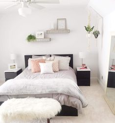 This is a Bedroom Interior Design Ideas. House is a private bedroom and is usually hidden from our guests. However, it is important to her, not only for comfort but also style. Much of our bedroom … Dream Rooms, Dream Bedroom, Home Bedroom, Modern Bedroom, Bedroom Ideas, Master Bedroom, Cosy Grey Bedroom, Bedroom Inspo, Bedroom Decor For Teen Girls
