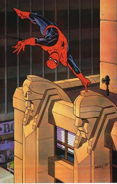 Spider-Man by Ken Steacy #KenSteacy #SpiderMan #Avengers #PeterParker #DailyBugle #WebSlinger #NewYorkCity
