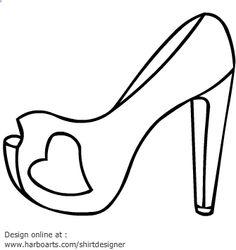 block heels heart outline vector graphics coloring bookscolouringvector graphicsblock