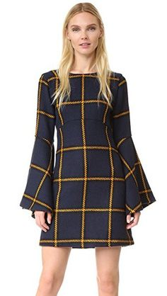 Dress: JOUR/NE (also bought this check coat and this plaid top). Tartan Fashion, Fall Fashion Outfits, Fashion Dresses, New Dress Pattern, Dress Patterns, Winter Dresses, Casual Dresses, Parisienne Chic, Tartan Dress