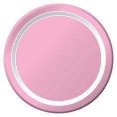 "Spritz™ Solid Dinner Plates Light Pink 9"" 10 Ct : Target"
