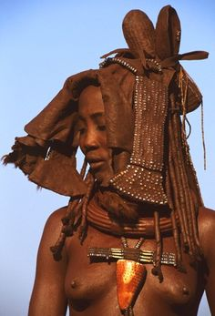 Himba woman with Ekori headdress by Angela Fisher and Carol Beckwith (please do not repin without including photographer's credits)