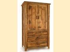 The Weathered Timber Armoire is perfect for your log cabin, rustic lodge, or country cottage bedroom retreat. Visit us online or call for more rustic decor. Country Cottage Bedroom, Pine Timber, Guest Cabin, Bedroom Retreat, Rustic Decor, Armoire, Tall Cabinet Storage, Furniture, Home Decor