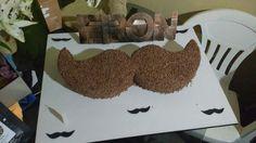 Cake bolo Mustache Teatro e deu Certo..
