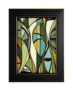 """EINGERAHMTER KUNSTDRUCK """"GREEN MIRROR"""" MARACHOWSKA ART von MARACHOWSKA ART, http://www.marachowska.com/"""
