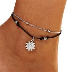 Anklet and toe ring Foot Bracelet, Ankle Bracelets, Beaded Foot Jewelry, Anklet Tattoos, Trendy Fashion Jewelry, Silver Anklets, Diy Rings, Silver Stars, Toe