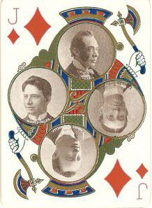 J♦ Deck: Stage No. 65. USA. Made: ThUSPCC. Date: 1896.