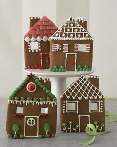 Gingerbread House Facades! Everyone get's their own when you make these yummy spiced cookie houses. Decorate with Royal Icing and candy.