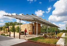 The Phil Hardberger Park Urban Ecology Center, San Antonio's first public nature center, contributes to a wealth of knowledge about our environment and the interaction of plants, animals and humans with each other in urban settings.The Urban Ecology Center is a model for environmental stewardship through its use of locally sourced and sustainable materials, its extensive rainwater harvesting system, and its preservation of native, mature trees.