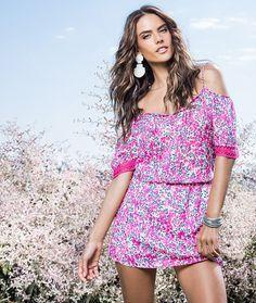 Summer style: Alessandra Ambrosio stars in a new campaign for Brazilian e-retailer Dafiti...