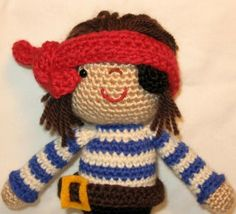 Crochet Pattern - Marco the Pirate