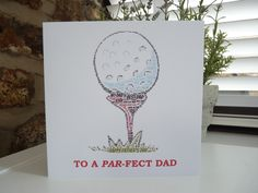 For Golf Fans everywhere - Personalised Father's Day card - also available as a Birthday Card - connorinteriors.etsy.com