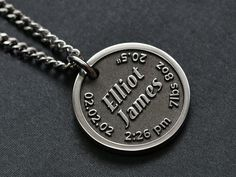 Unique Sympathy Gifts, Unique Gifts, Custom Engraved Necklace, Gifts For Father, Gifts For Dad, Kid Names, Baby Names, Engraved Gifts, Chains For Men
