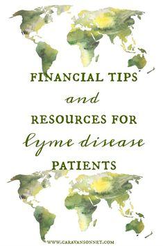 Financial Tips and Resources for Lyme Disease Patients #lyme #lymedisease #financialtips #chronicillness #caravansonnet #rebeccavandemark