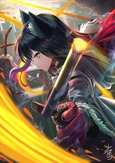 やわはら お仕事をください (@yawaharan) / Twitter Anime Wolf Girl, Dark Anime Girl, Anime Girl Neko, Girls Anime, Cool Anime Girl, Beautiful Anime Girl, Anime Neko, Manga Girl, Anime Art Girl
