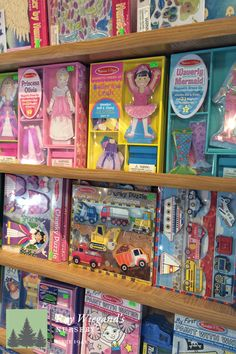 Melissa and Doug has so many great children activity books and toys.  www.wiegandsnursery.com