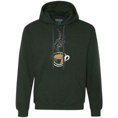 Hot Coffee Music Notes Heavyweight Pullover Fleece Sweatshirt
