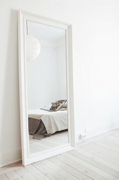 Schlafzimmer Spiegel Hemnes in bedroom ideas full length White My New Room, My Room, Home Bedroom, Bedroom Decor, Bedroom Mirrors, Big Mirror In Bedroom, Bedroom Ideas, Bedroom Storage, Full Length Mirror Bedroom