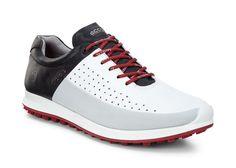 942b184d986b New ECCO Mens Biom Hybrid 2 HM Golf Shoes - White Concrete Black(