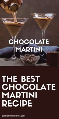 This Chocolate Martini isn't chocolate milk! It's the BEST dessert cocktail in town. Simply, measure, pour and shake! Alcoholic Desserts, Cocktail Desserts, Drinks Alcohol Recipes, Dessert Drinks, Yummy Drinks, Fireball Recipes, Cocktail Martini, Alcoholic Shots, Best Cocktail Recipes