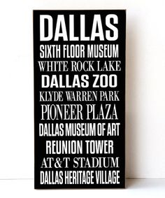 Another great find on #zulily! Dallas Subway Wall Sign #zulilyfinds