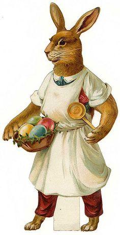 Vintage Easter Postcard / Die Cut by Suzee Que, via Flickr