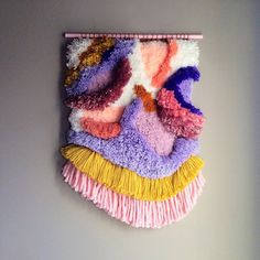 Furry Lanscape n.6 / Handwoven Tapestry Wall hanging Weaving Fiber Art Textile Wall Art Woven Home Decor Jujujust