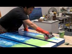 ▶ How to Artist Demo Studio Abstract Painting Gloss / Resin Art by Shane Townley…