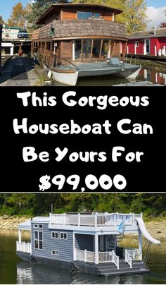 Tour This Rustic And Modest Houseboat, The Living Area Is One Of The Coziest We've Seen