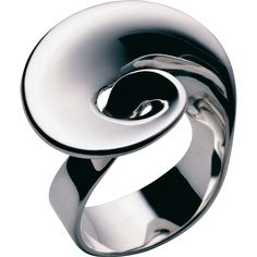 Continuity Ring by Georg Jensen: Made of sterling silver with a heart and an infinity symbol incorporated into the flowing design. #Ring #Georg_Jensen