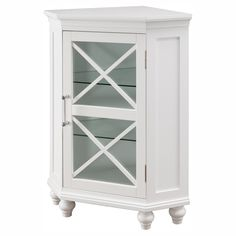 Gallery For Website Elegant Home Fashions Ethan Corner Bathroom Floor Cabinet from hayneedle