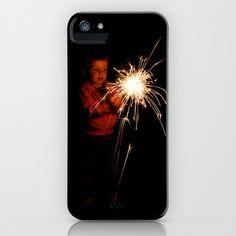 First Sparkler iPhone & iPod Case by Jody Edwards Art - $35.00