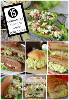 The Ultimate Pinterest Party, Week 141 | 15 Sandwiches that use Hard-Boiled Eggs -- use up the eggs from Easter egg coloring fun! Also find 20 Deviled Egg Recipes and 15 other recipes that use Hard-Boiled Eggs.