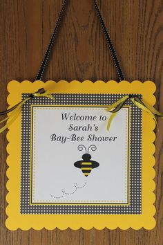 Mommy to Bee Baby Shower Personalized Door by ExpressionsPaperie, $10.00