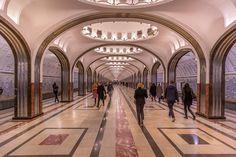Moscow Metro - Take Mayakovskaya Sheremetyevo International Airport, Moscow Metro, Metro Subway, Underground World, Russian Culture, Metro Station, World Cities, Amazing Spaces, Train Station