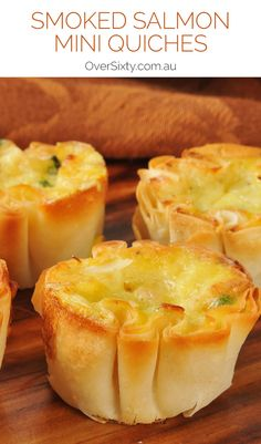 Mini Smoked Salmon Quiches - entertaining guests? Or just want to have some appetisers before dinner? These are perfect!