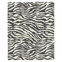 Zebra Wool Rug, Iron, 8'x10'
