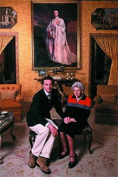 A sweet portrait of Count Alessandro with his grandmother, Infanta Beatriz of Spain.