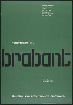 Wim Crouwel – Kunstenaars uit Brabant – 1957