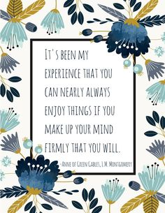 Free Printable, Anne of Green Gables Quote