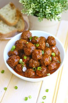 Saucy and a bit spicy - a great appetizer! Spanish-style Meatballs #appetizers #meatballs #chorizo