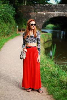 Not Dressed As Lamb - Over 40 Fashion: How To Wear A Crop Top In Your Forties | With A Maxi Skirt