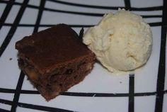 brownie con helado sin azúcar