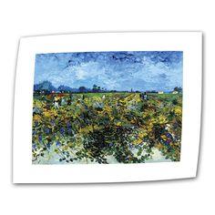 Green Vineyard by Vincent van Gogh Painting Print on Canvas