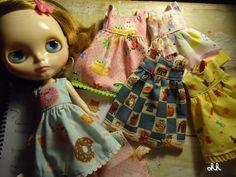 blythe dal pullip kawaii dress japanese cotton fabric by sandraohh, $30.00