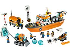 Power through icy waters with the LEGO® City Arctic Icebreaker!